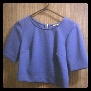 Express blue crop top